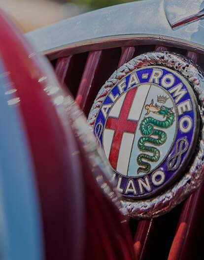 1 pi/èce Alfa Romeo Porte-cl/és /à Bande Blanc